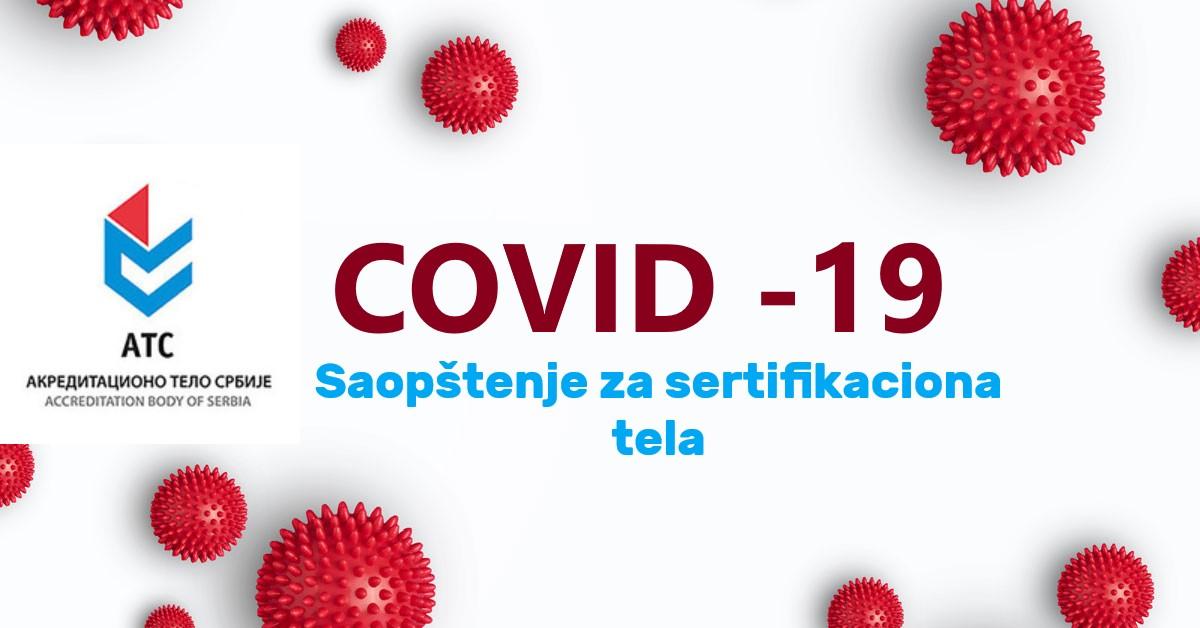 Obaveštenje ATS-a Za Sva Sertifikaciona Tela